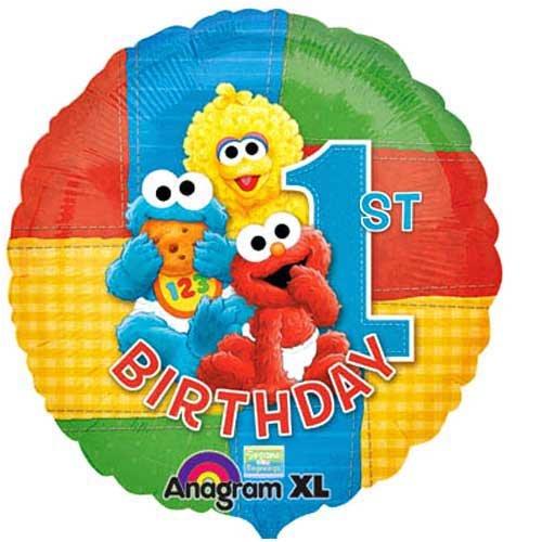 Sesame Street 1st Birthday Mylar Balloon - Buy Sesame Street 1st Birthday Mylar Balloon - Purchase Sesame Street 1st Birthday Mylar Balloon (Party America, Toys & Games,Categories)