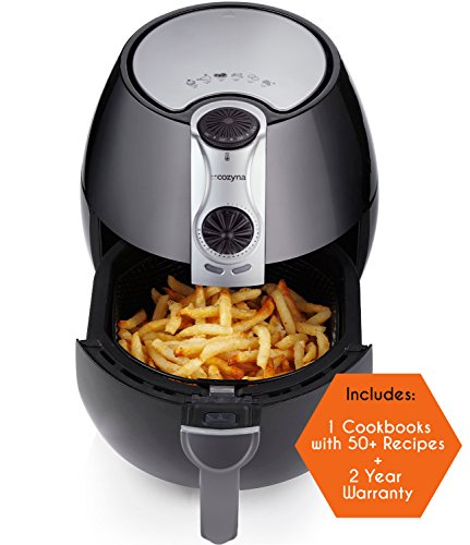 Air Fryer by Cozyna, Low Fat Healthy and Multi Cooker with Rapid Air Circulation System, 3.2 L with 2 e-cookbooks Included (over 50 recipes) (Healthy Fish Fryer compare prices)
