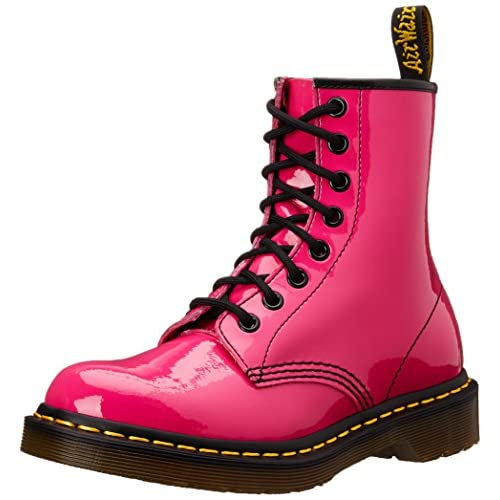 Dr. Martens Women's 1460 Originals Eight-Eye Lace-Up Boot,Hot Pink Patent Lamper,5 UK (7 M US Womens)