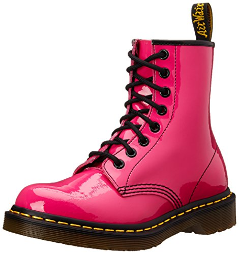 Dr. Martens 1460 Patent Stivaletti, Unisex Adulto, Rosa (Hot Pink Patent), 38