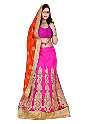 Rivaaz Sarees Women's Viscose & Net Lehenga Choli_1128_Multicolored_Freesize