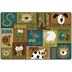 Animal Sounds Kids Rug Rug Size: 4' x 6'