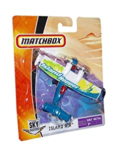 "Matchbox MBX Metal Sky Busters Mini (3.5"" W x 5"" L x 1.5"" H) Die Cast Plane #15 of 24 - Island Hopper Island Air"