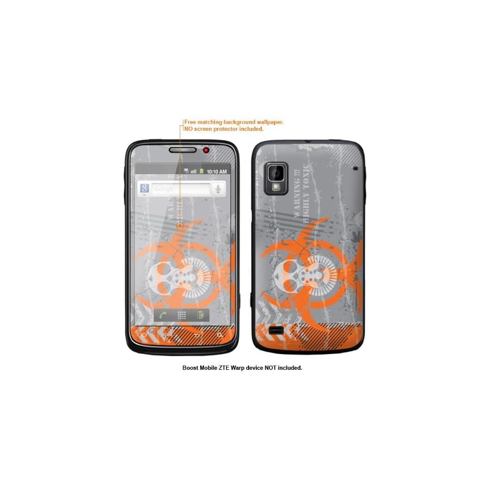 Protective Decal Skin Sticker for ZTE Warp  Boost Mobile version  case cover ZTEwarp 428