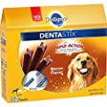 PEDIGREE DENTASTIX Large Dog Chew Treats, Bacon, 32 Treats