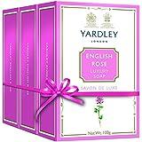 Yardley English Rose Bathing Soap, 100gm (Pack Of 3)