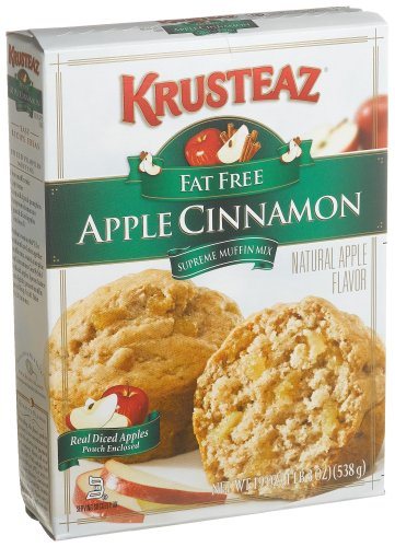 Krusteaz Apple Cinnamon Supreme Muffin Mix, Fat Free, 19-Ounce Boxes (Pack of 12)
