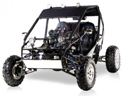 BMS Power Buggy 250 BLACK Gas 4 Stroke 244cc Recreational Buggy Go Kart