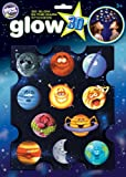 The Original Glowstars Company - Glow 3-D Stickers - Funny Planets