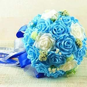 Wedding Bouquet Silk Ribbon PE Wedding Floral Bridal Flowers