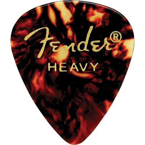 Fender 351 Classic Celluloid Guitar Picks 12-Pack - Shell - Heavy
