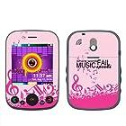 Fincibo (TM) Pantech Jest TXT8040 Accessories Skin Vinyl Decal Sticker - Pink Where Words Fail Music Speaks