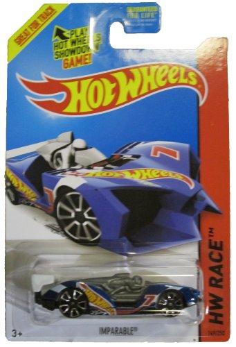 Hot Wheels 2014 Hw Race Team Blue Imparable Racing Car 149/250 - 1