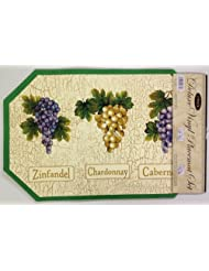 Best Deal With SET OF 6 EXPANDED VINYL PLACEMATS GRAPES