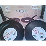 Pigeon MIO Non-stick Cookware DUO Pack-Fry Pan 240 And Flat Tawa 250