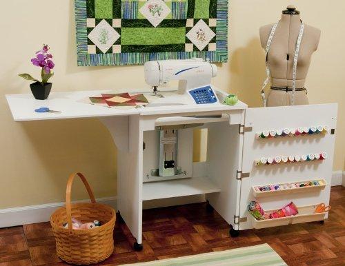 Mueble para m quina de coser senatra en blanco de arrow - Mesa para maquina de coser ikea ...