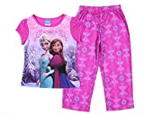 Disney Frozen Big Girls' Anna and Elsa Back to Back Pajama Set