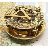 "Captain's Brass Triangle Sundial Compass 3"" - Brass Desk Compasses - Nautical Decor Home Decoration - Executive Promotional Gift"