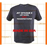 Jet-Opaque II Iron on Heat Transfer Paper/Dark Color 25 Sheets 8.5x11
