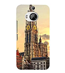 VINTAGE CLOCK TOWER MONUMENT IN EVENING 3D Hard Polycarbonate Designer Back Case Cover for HTC One M9+ :: HTC One M9 Plus