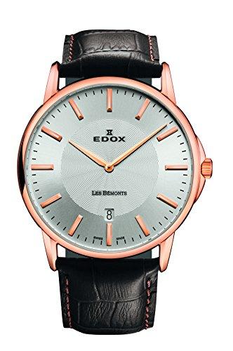 EDOX - 56001 37R AIR - Montre Mixte - Quartz Analogique - Bracelet Cuir Marron
