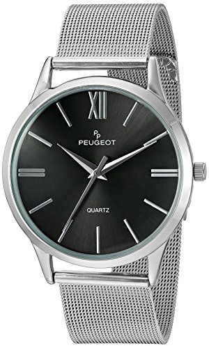 peugeot-mens-stainless-steel-slim-case-watch-with-mesh-band-black-dial