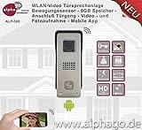 WLAN Video Türsprechanlage ALP500 - 8GB Speicher - Stromversorgung 12V