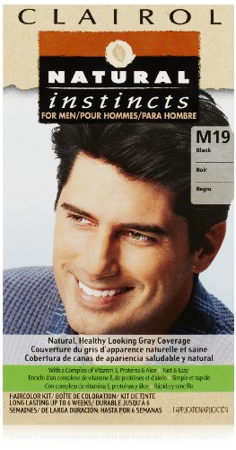 Clairol Natural Instincts Hair Color For Men M19 Black 1 Kit (Pack Of 3) front-219825