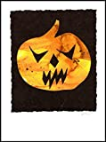 836 Scary Pumpkin Handmade Greeting Card