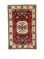 L'Eden del Tappeto Alfombra Uzebekistan Rojo / Multicolor 98 x 153 cm