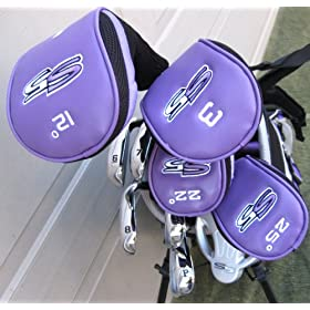 2009 Ladies Left Handed S5 Complete Golf Club Set with Bag Square Drivers, Hybrids, Putter Womens LH $750 Retail