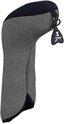 Stealth Club Covers 26180INT Fairway Wood ID 7-9-X Golf Club Head Cover, Silver Tweed/Black