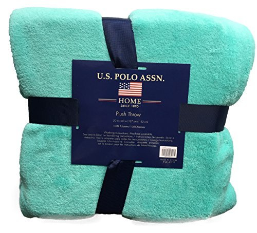 U.S. Polo Association Luxury Ultra Soft Plush Throw Blanket