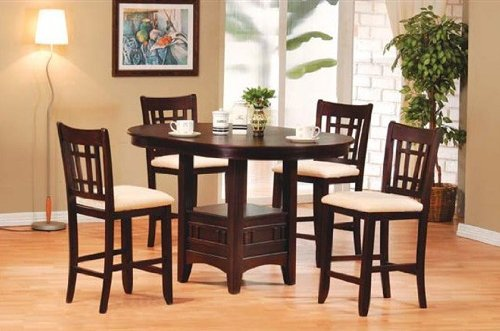 Picture of Acme Furniture 5 Piece Lugano Bar Height Dinette Set (VF_AZ01-13204) (Dinette Sets)