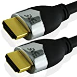 Cablesson Prime High Speed 3m HDMI TO HDMI CABLE with Ethernet (1.4a Version, 15.2Gbps) Supports 1.4 1.3 1.3b 1.3c 1080P 2160p FULL HD for LCD PLASMA & LED Sony PS3 XBOX 360 PC SKYHD Virgin Box Nintendo Wii U AND ALSO SUPPORTS 3D TVSby Cablesson
