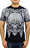 Affliction Mens Cain Velasquez Aztlan T-Shirt XL Black