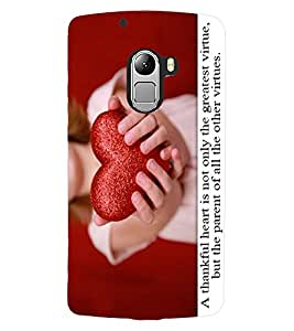 ColourCraft Love Quote with Image Design Back Case Cover for LENOVO VIBE X3 LITE