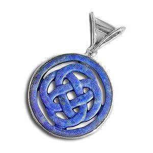 sterling silver lapis celtic design pendant by sajen