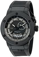 Salvatore Ferragamo Men's F55LGQ6877 S113 F-80 Black Carbon Fiber and Black Rubber Watch by Salvatore Ferragamo