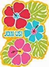 Bright Hibiscus Luau Invitations Party Accessory