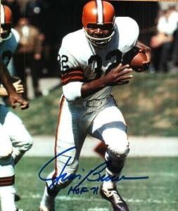 Autographed Jim Brown Photo Cleveland Browns by Main Line Autographs