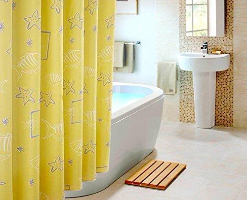 scheppend-gelbe-wilde-sea-world-gedruckten-wasserdichten-duschvorhang-mit-messingknopf-200l220h-cm