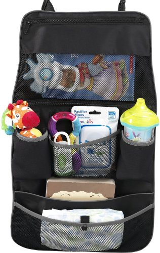 Best Buy! Munchkin Backseat Organizer, Black/Grey - 2 Pack