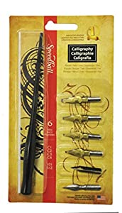 Speedball 6 Nib Calligraphy Lettering Set