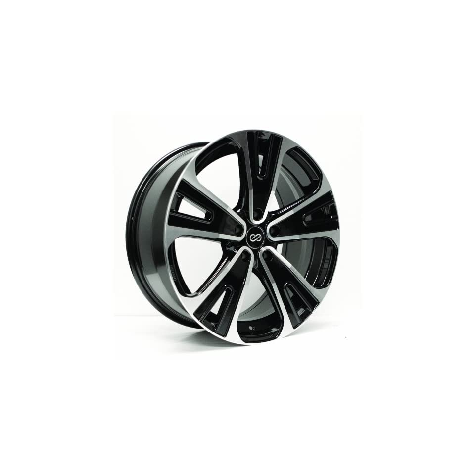 18x8 Enkei SVX (Black Machined) Wheels/Rims 5x127/5 (475 880 7350BKM)