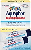Aquaphor Baby Healing Ointment Diaper Rash and Dry Skin Protectant, .35oz Dual Pack