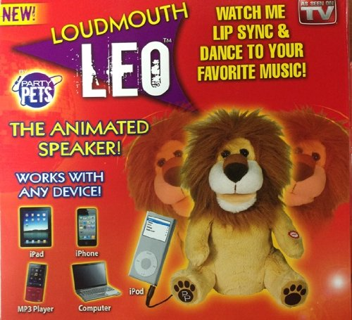 Loudmouth Leo The Lion Animated Speaker Lip Syncs & Dances, Plugs Into Any 3.5Mm Device - For Phone Calls / Works With All Iphones / Iphone 5C And 5S / All Ipad'S / Ipad Air And Ipad Mini / Itouch And Ipod / Nexus / Samsung Galaxy Note And Tab / Samsung G