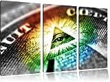 Pyramide Illuminati avec l'oeil d'Illuminati, 120x80 image de toile peinture sur toile, d'énormes photos XXL complÚtement Vue avec la civiÚre, d'impression d'art sur l'image de mur avec cadre, moins cher que la peinture ou une peinture Ã...