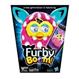 Polka Dots Furby Boom Sunny White and Pink Electronic Plush Figure