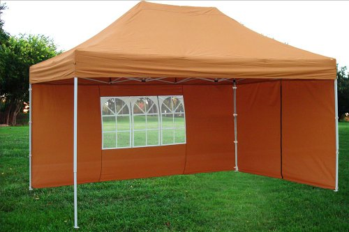 10X15 Pop Up Canopy Party Tent Gazebo Set Ez Brunt Orange F Model - Upgraded Frame By Delta Canopies front-96758